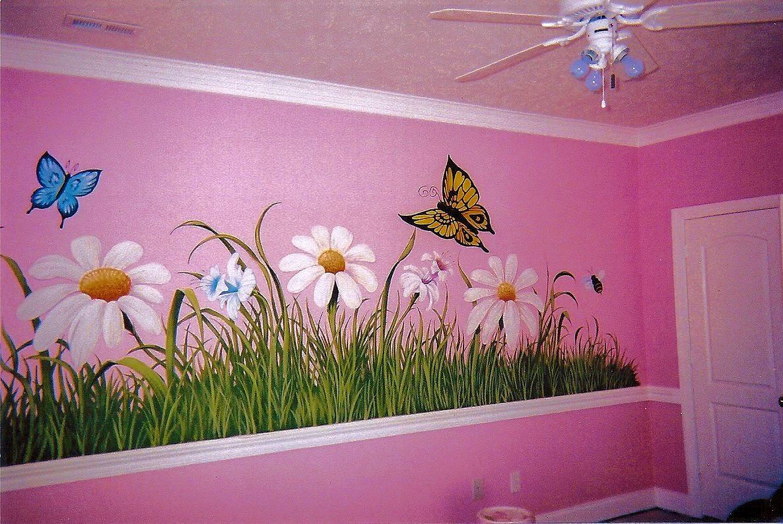 Lukisan Dinding Taman Bunga Sabalukisan